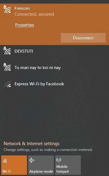 wifi network properties
