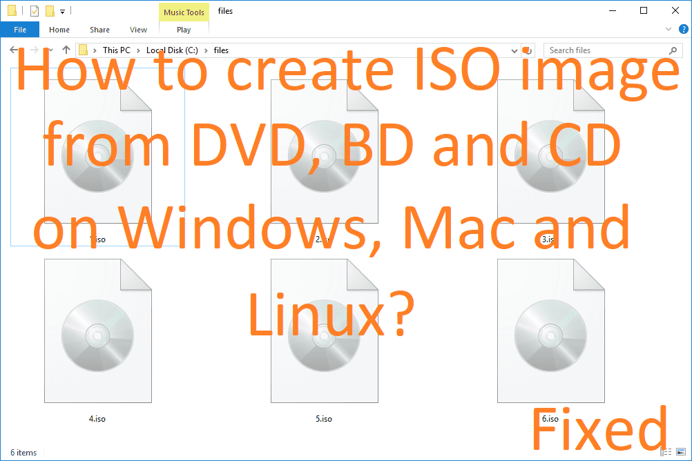 How to create an ISO image file from a DVD, BD and CD