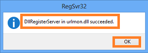Register urlmon.dll file