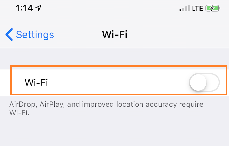 Do toggle off and on of Wifi
