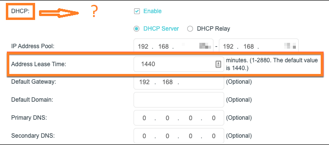 What is DHCP Lease Time