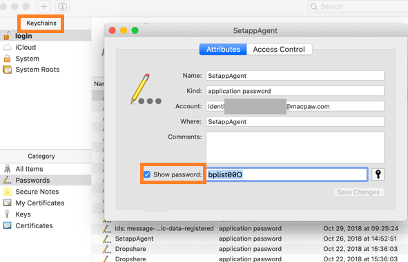 How to find Network Security Key on macOS