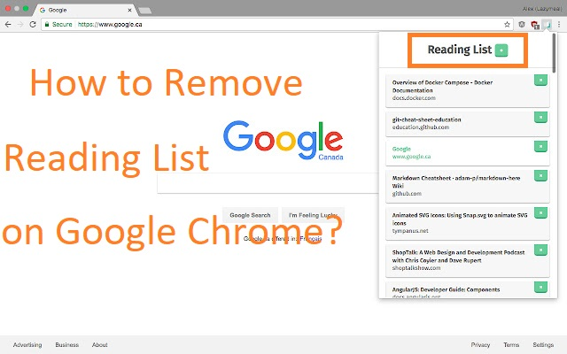 How to remove Reading List on Google Chrome