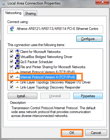 Local Area Connection Properties