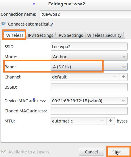 Match the frequency band of your Wifi network with Chromebook