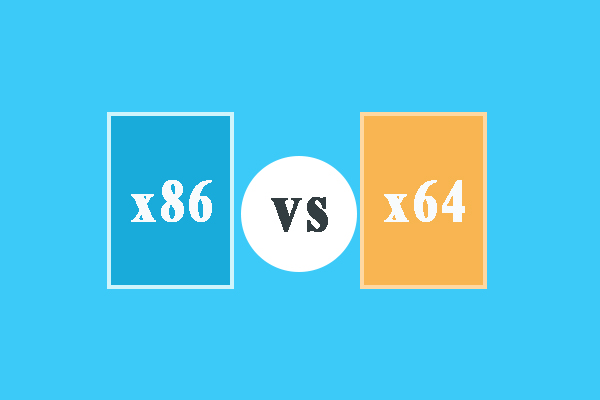 x86 vs x64