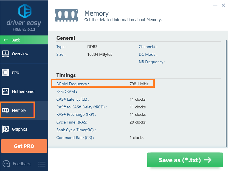 How to check RAM using Driver Easy