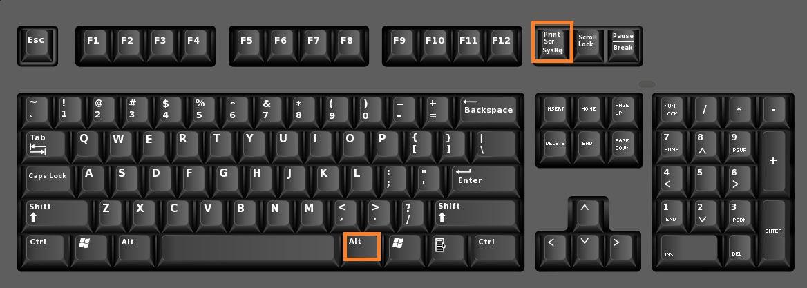 Keyboard shortcuts for screenshots