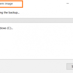 How to create full System Image Backup on Windows 10 & 7?