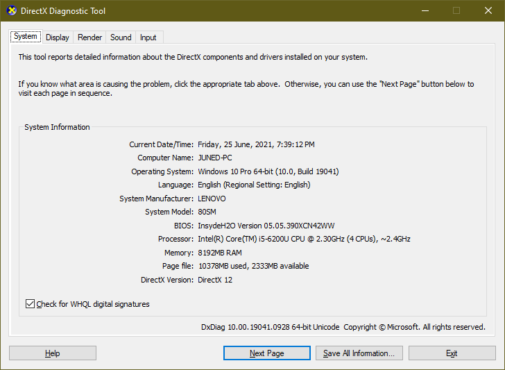 directx 12 version required for windows 11
