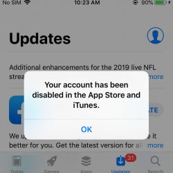 Fix: Your account has been disabled in the App Store and iTunes