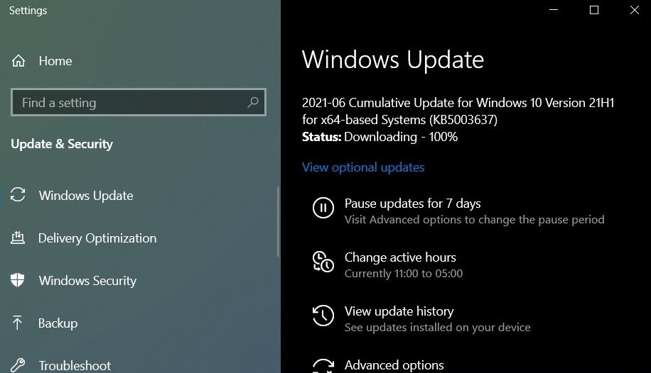 Download and Install the Latest Windows 10 update of June 2021
