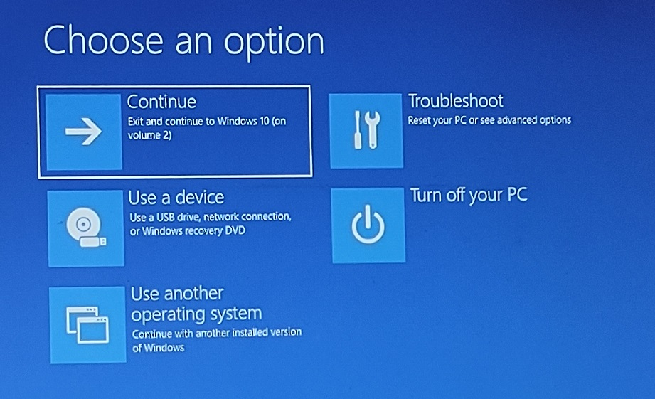 windows 11 recovery options