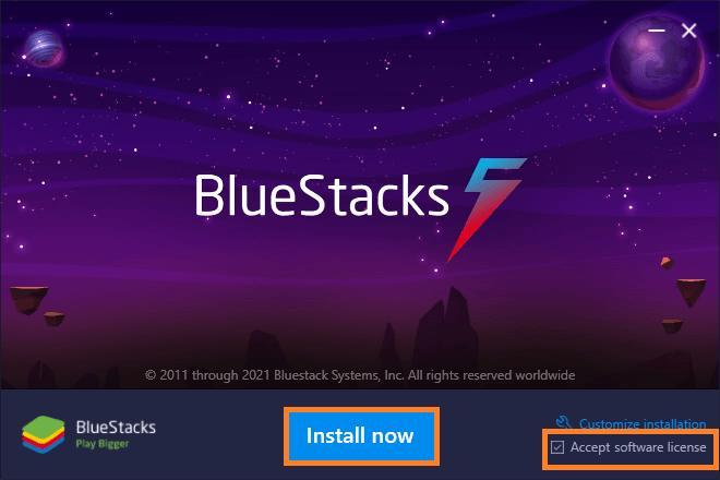 Install now BlueStacks 5