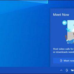 How to remove Meet Now from Windows 10 Taskbar?