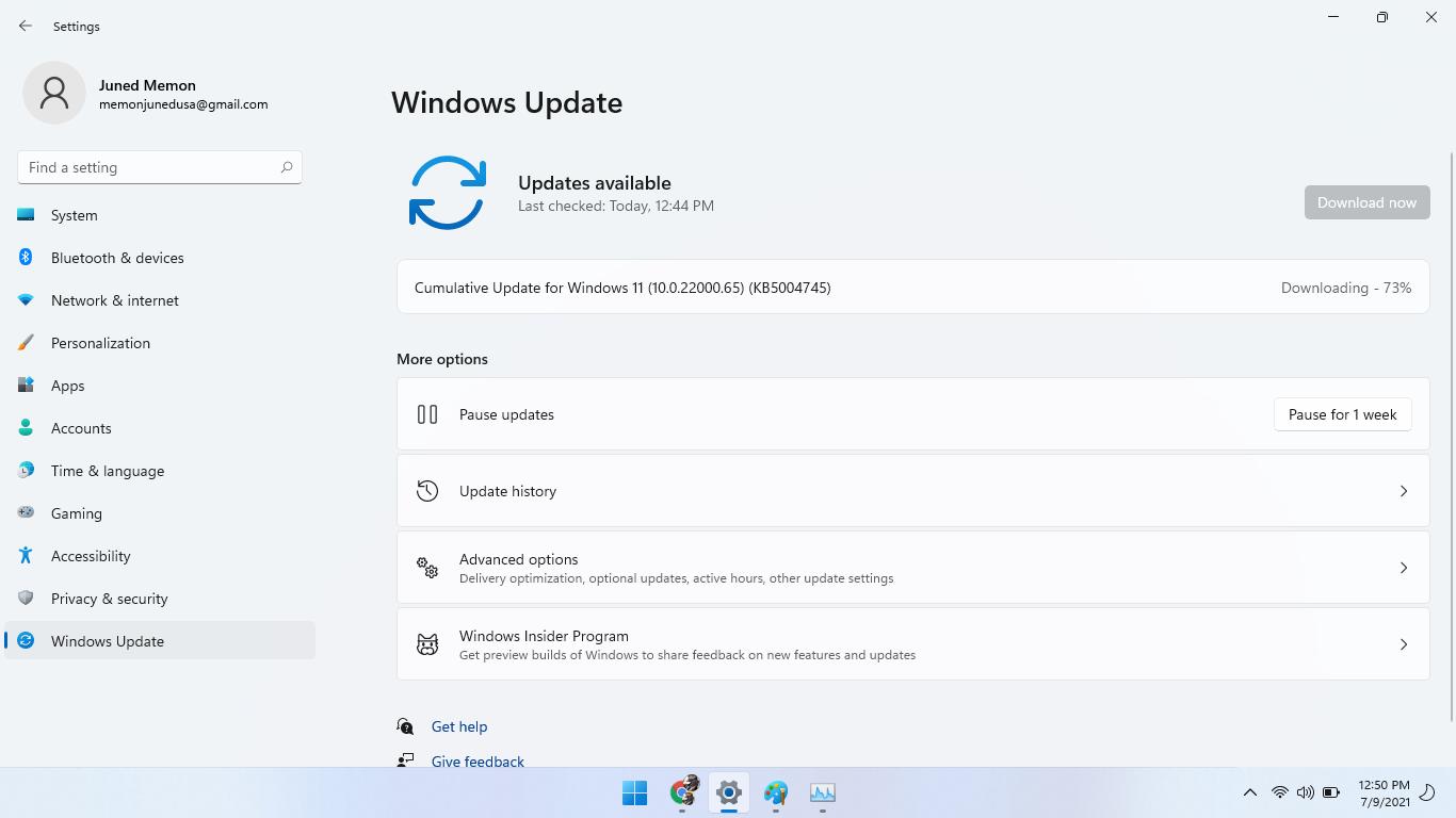 cumulative update for windows 11 (10.0.22000.65) (KB5004745)
