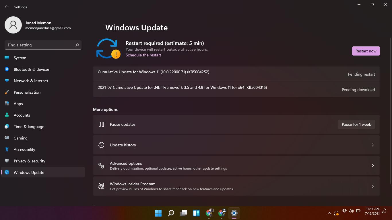 windows 11 22000.71