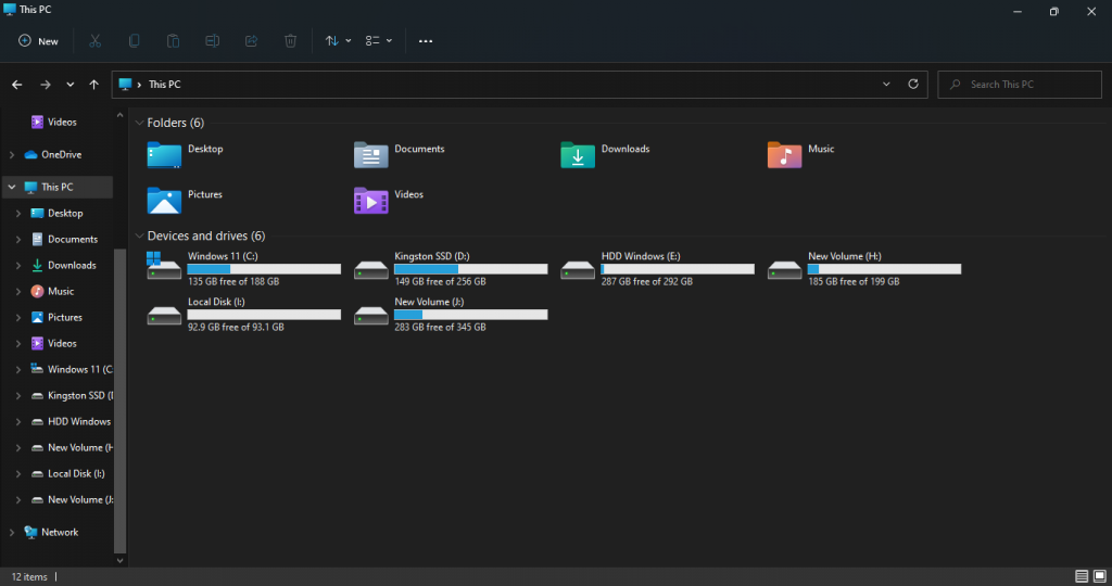 dark mode on file explorer windows 11