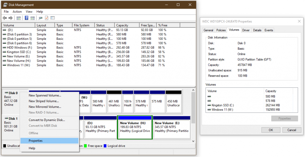 disk partition type