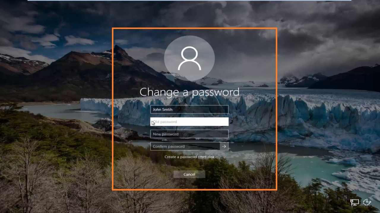 enter new password