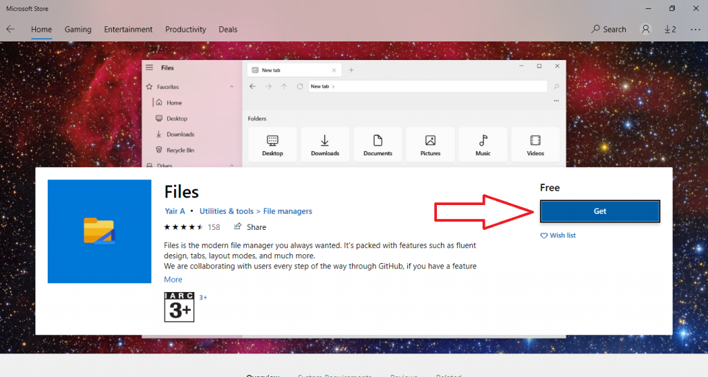 get files microsoft store