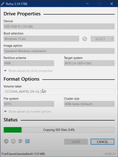 making windows 11 bootable usb
