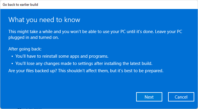 move back to windows 10