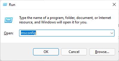 msconfig run windows 11
