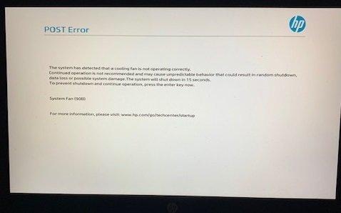 post error hp