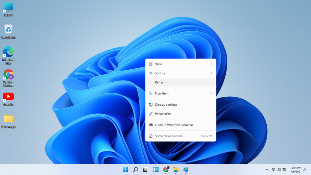 refresh windows 11 desktop