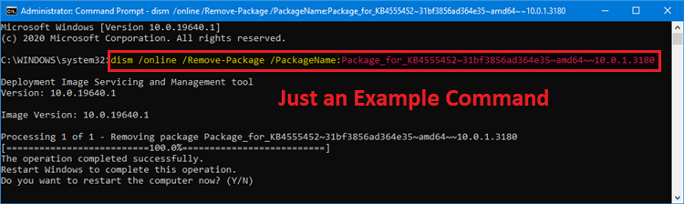 remove package