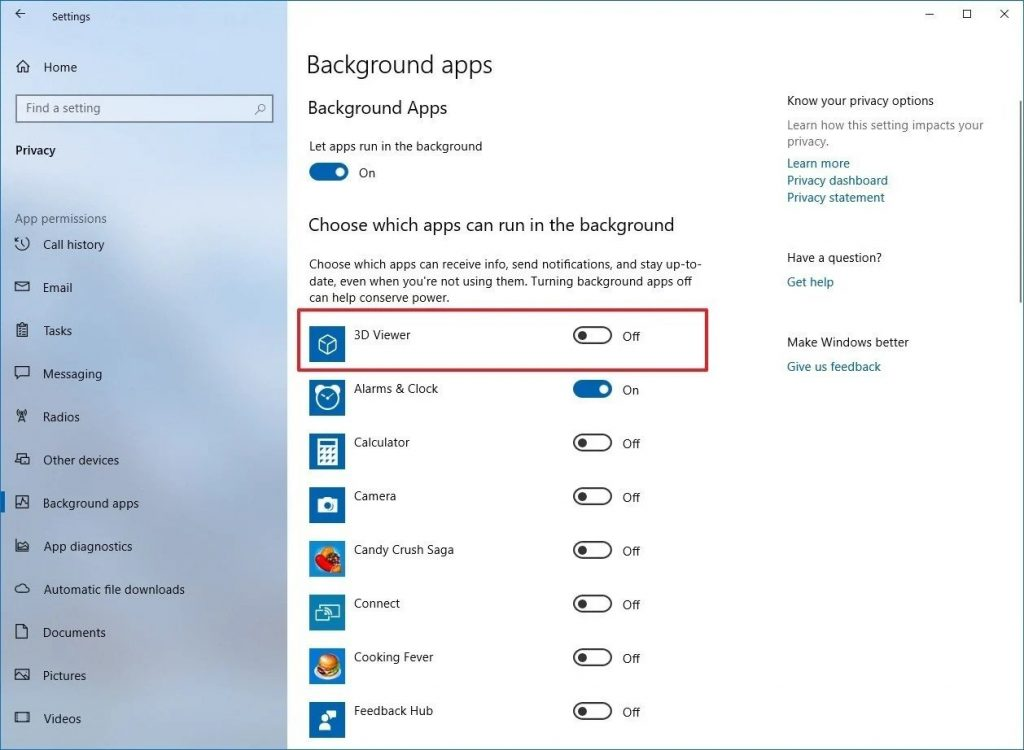 Disable Background Applications