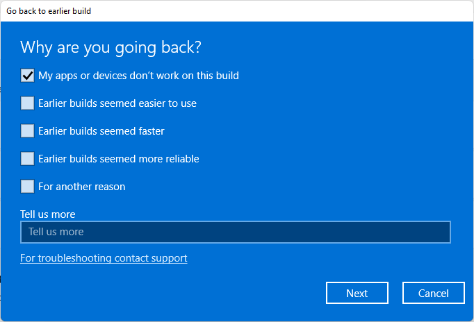 why are you going back to windows 10