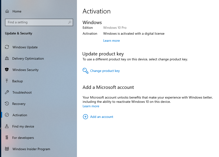 windows 10 pro is activated