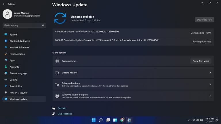 windows 11 22000.100 kb5004300