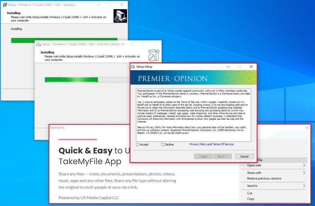 windows 11 fake installer