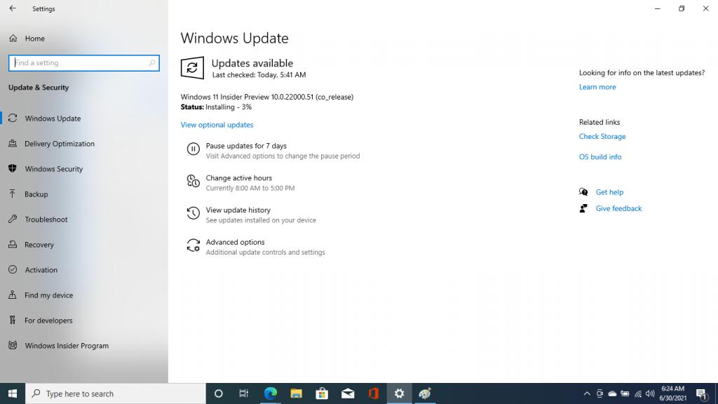windows 11 installing 0 percent
