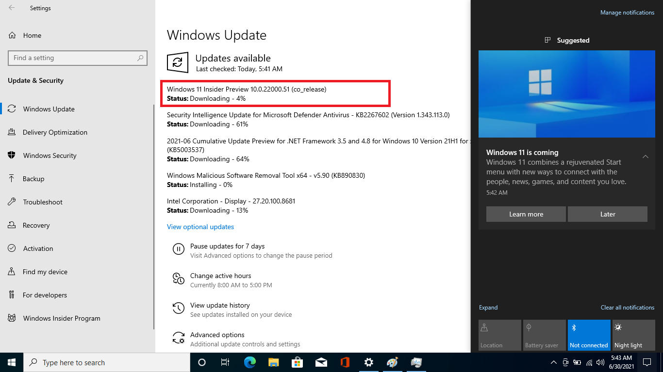 windows 11 is coming notification - 1