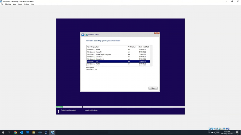 windows 11 virtual machine virtualbox hyper v