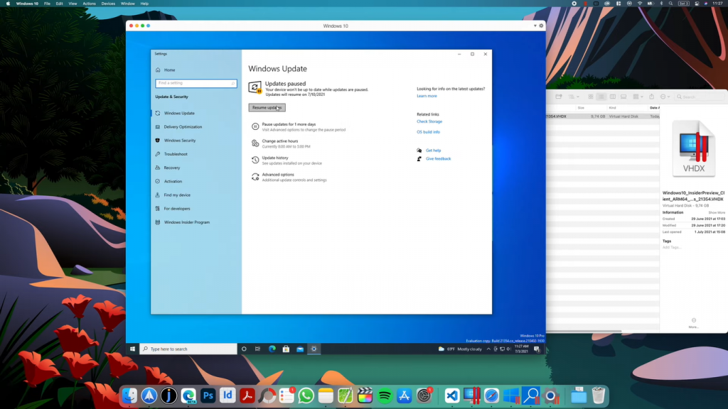 check for updates resume windows 11 mac