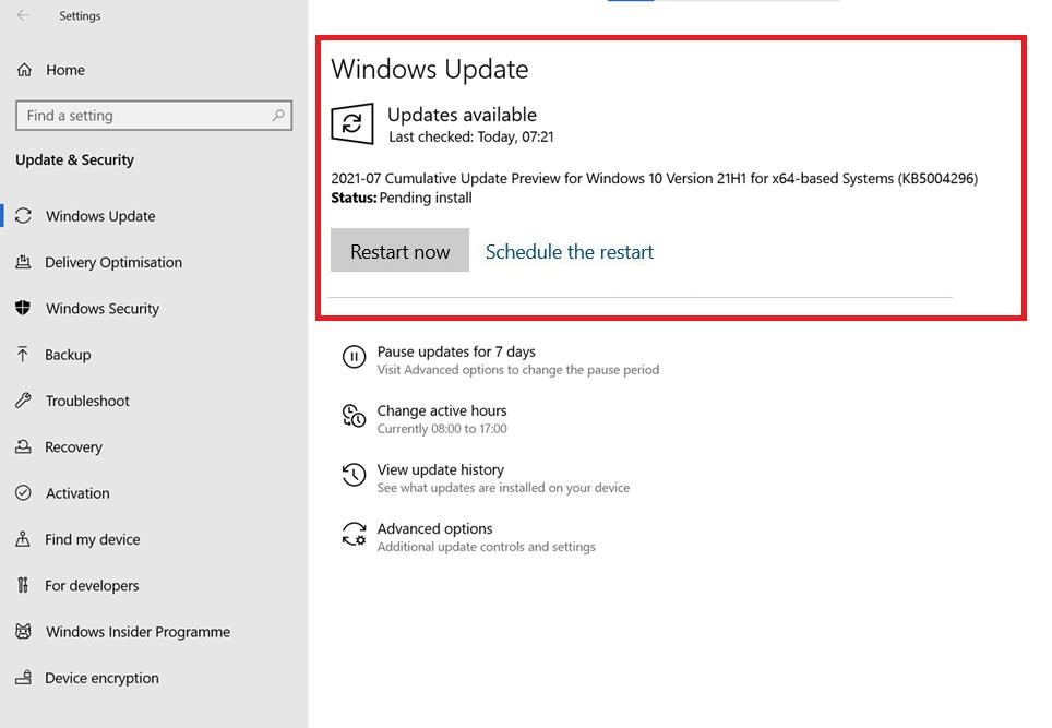 download windows 10 kb5004296