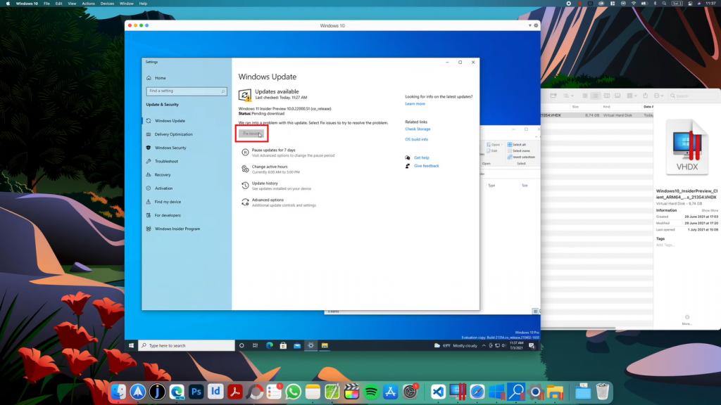 fix issues windows 11 mac
