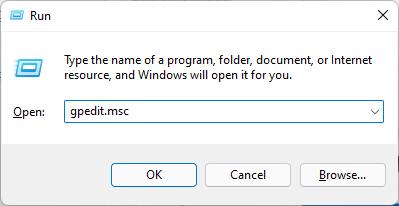 gpedit.msc run windows 11