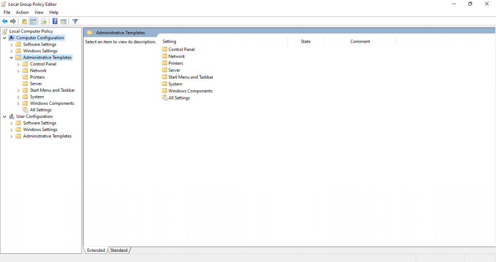 local group policy editor administrative templates computer configuration