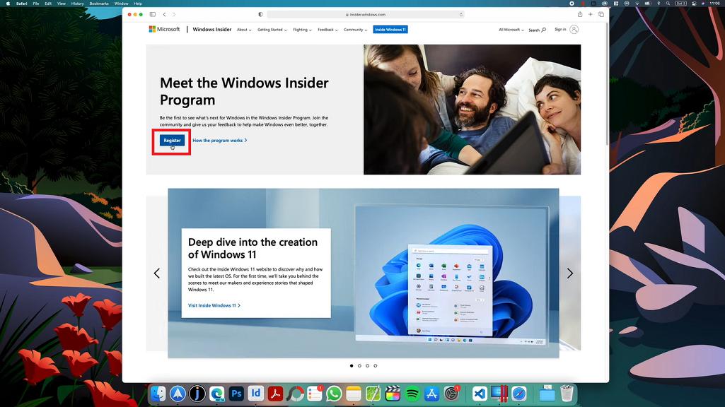 mac register windows insider program