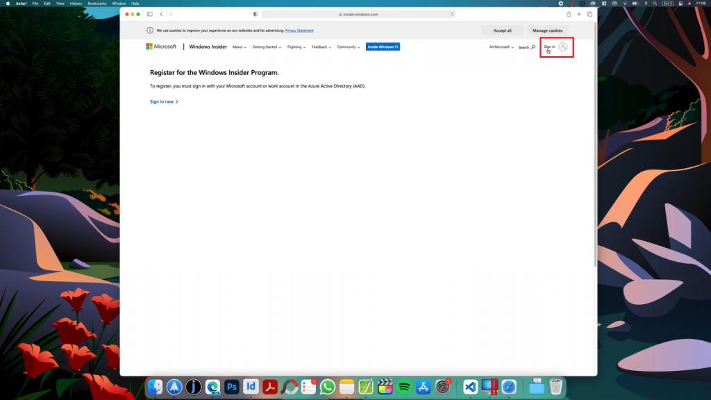 mac sign in microsoft account