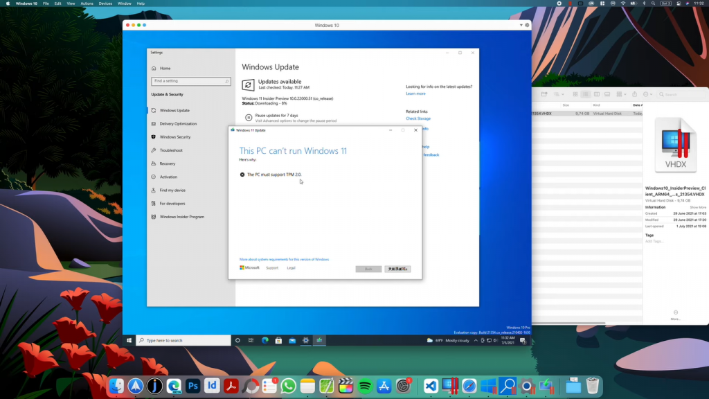 mac this pc cant run windows 11