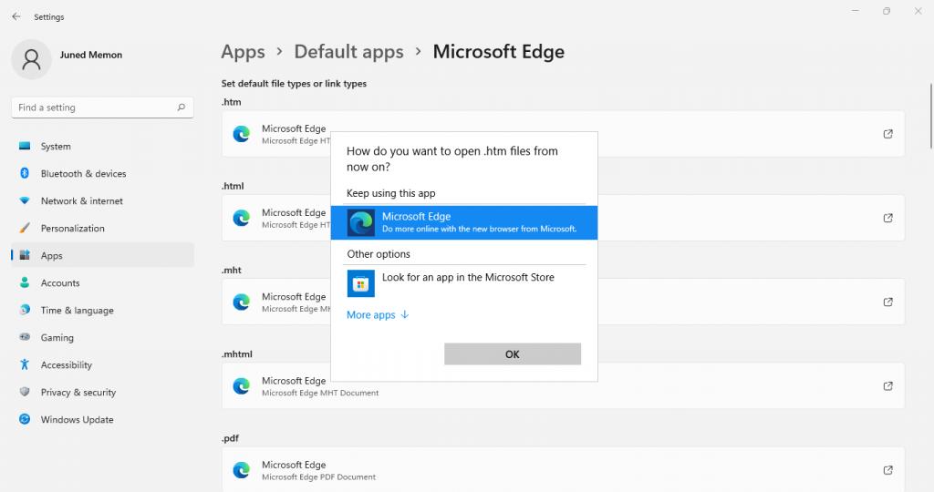 make microsoft edge default browser