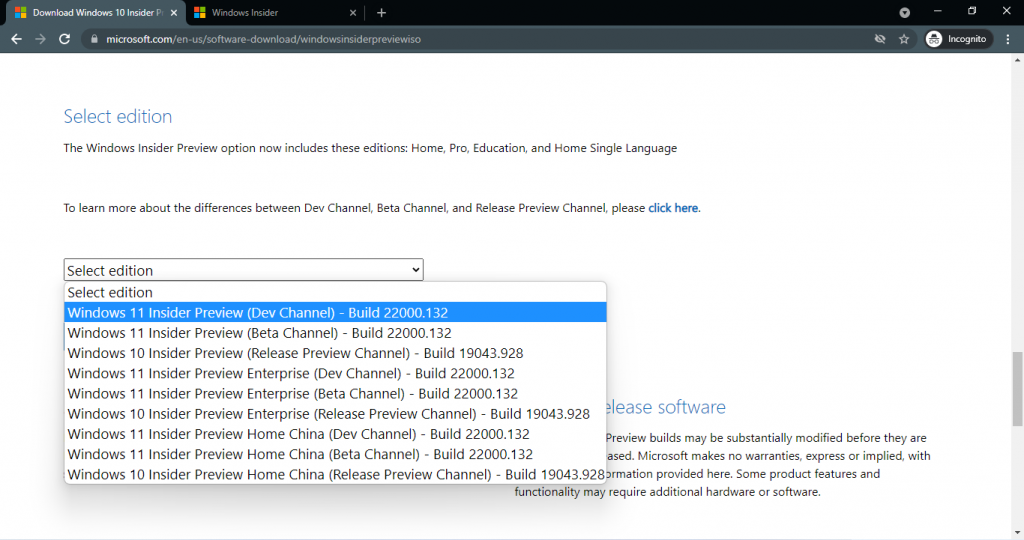 windows 11 insider preview 22000.132