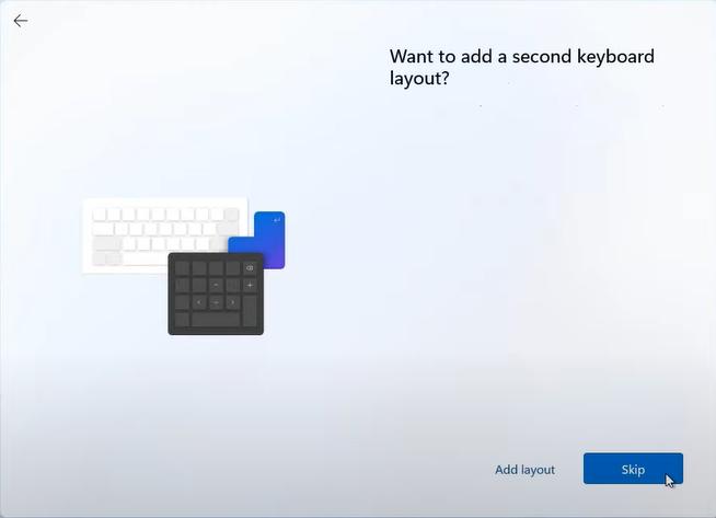 skip second keyboard